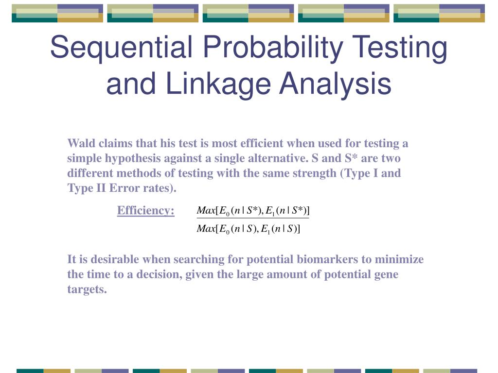 Sequential Probability Testing and Linkage Analysis