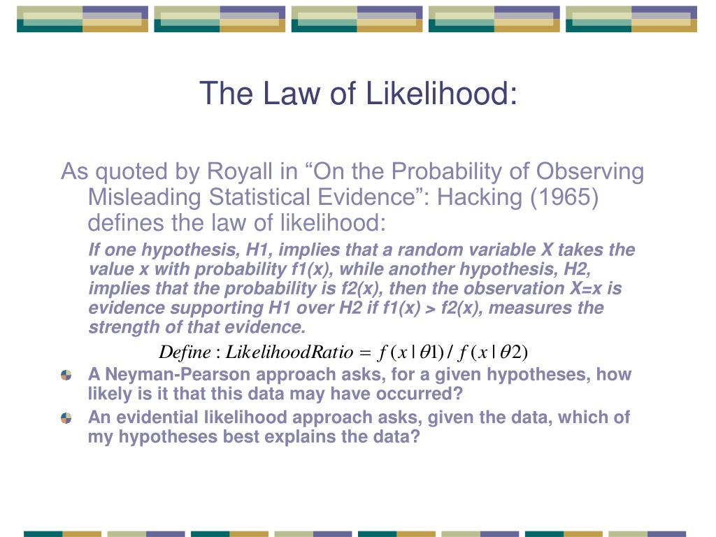 The Law of Likelihood: