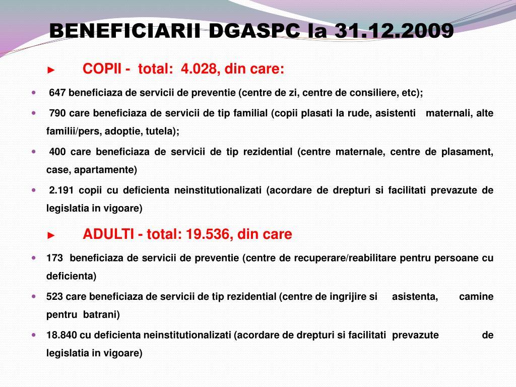 BENEFICIARII DGASPC
