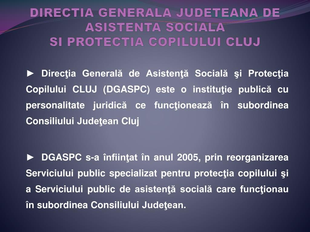 DIRECTIA GENERALA JUDETEANA DE ASISTENTA SOCIALA