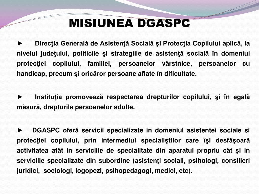 MISIUNEA DGASPC