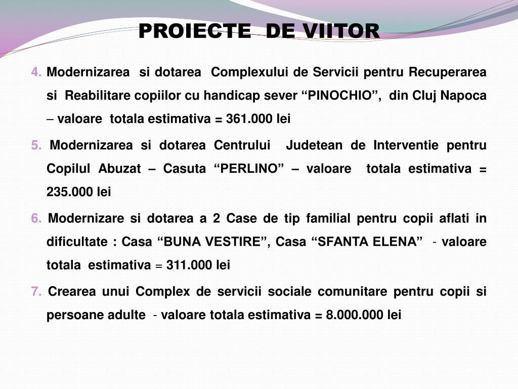 PROIECTE  DE VIITOR