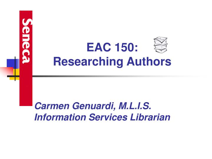 Carmen genuardi m l i s information services librarian