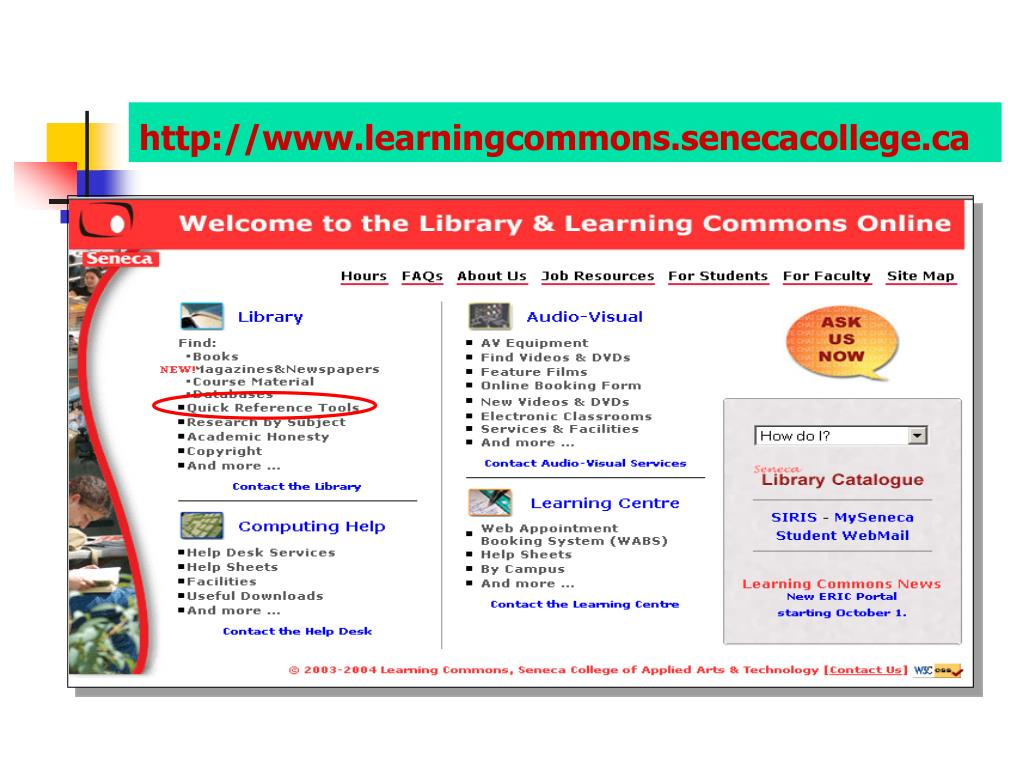 http://www.learningcommons.senecacollege.ca