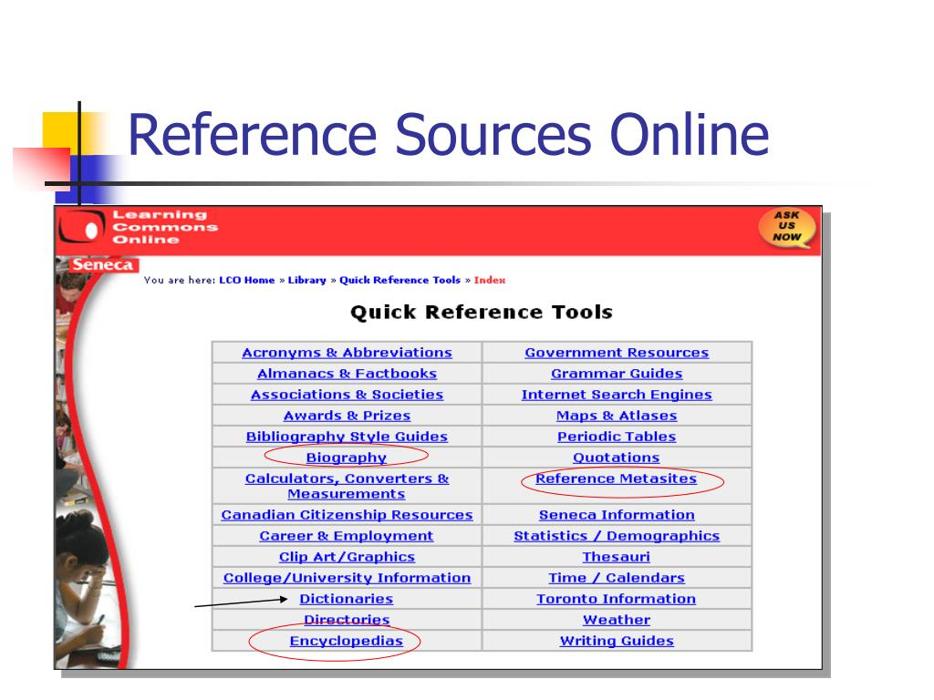 Reference Sources Online