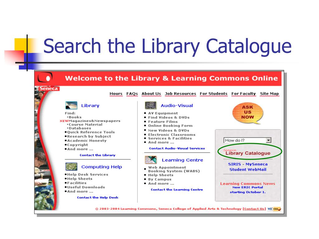 Search the Library Catalogue