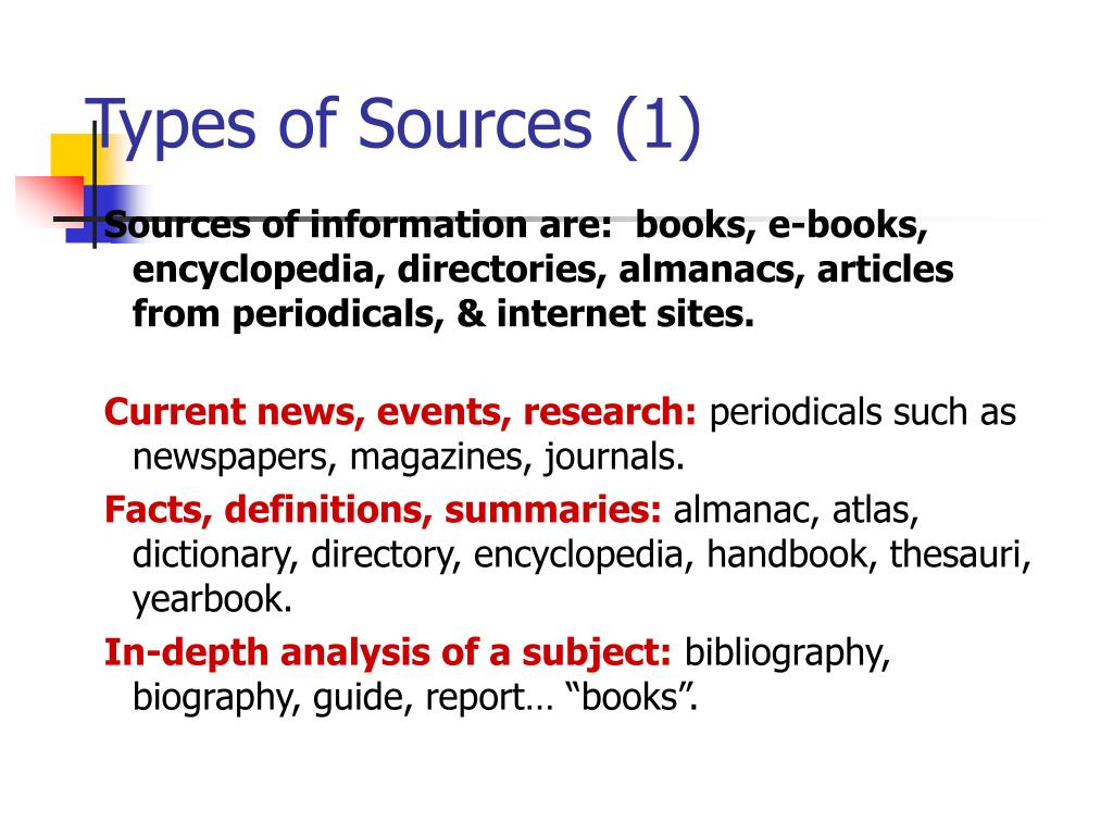 Types of Sources (1)