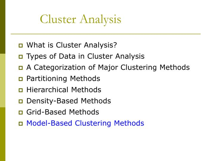 Cluster analysis2