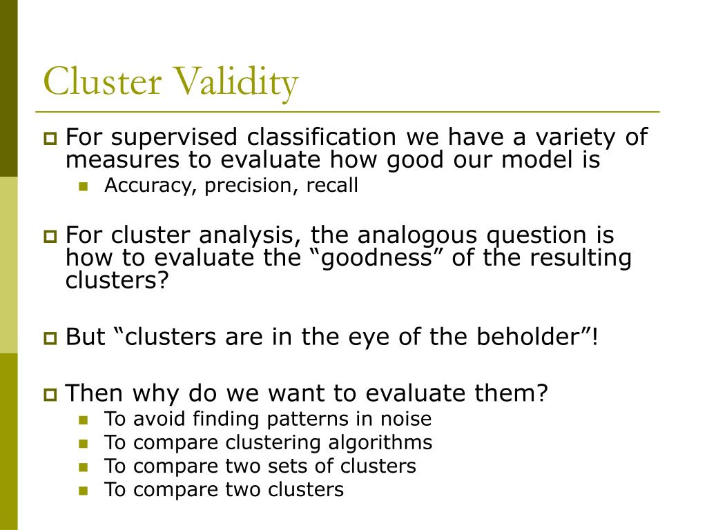 Cluster Validity