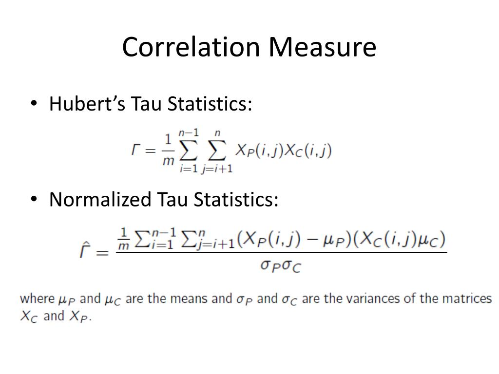 Correlation Measure