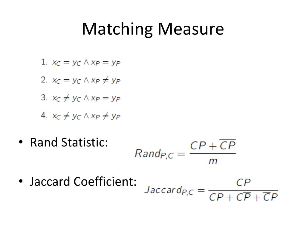 Matching Measure