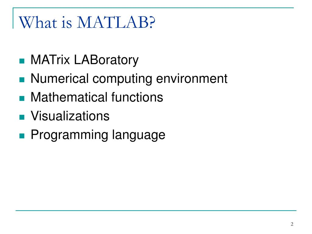 What is MATLAB?
