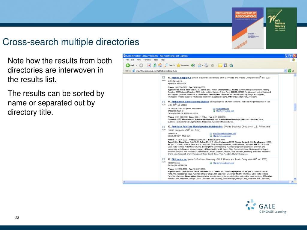 Cross-search multiple directories