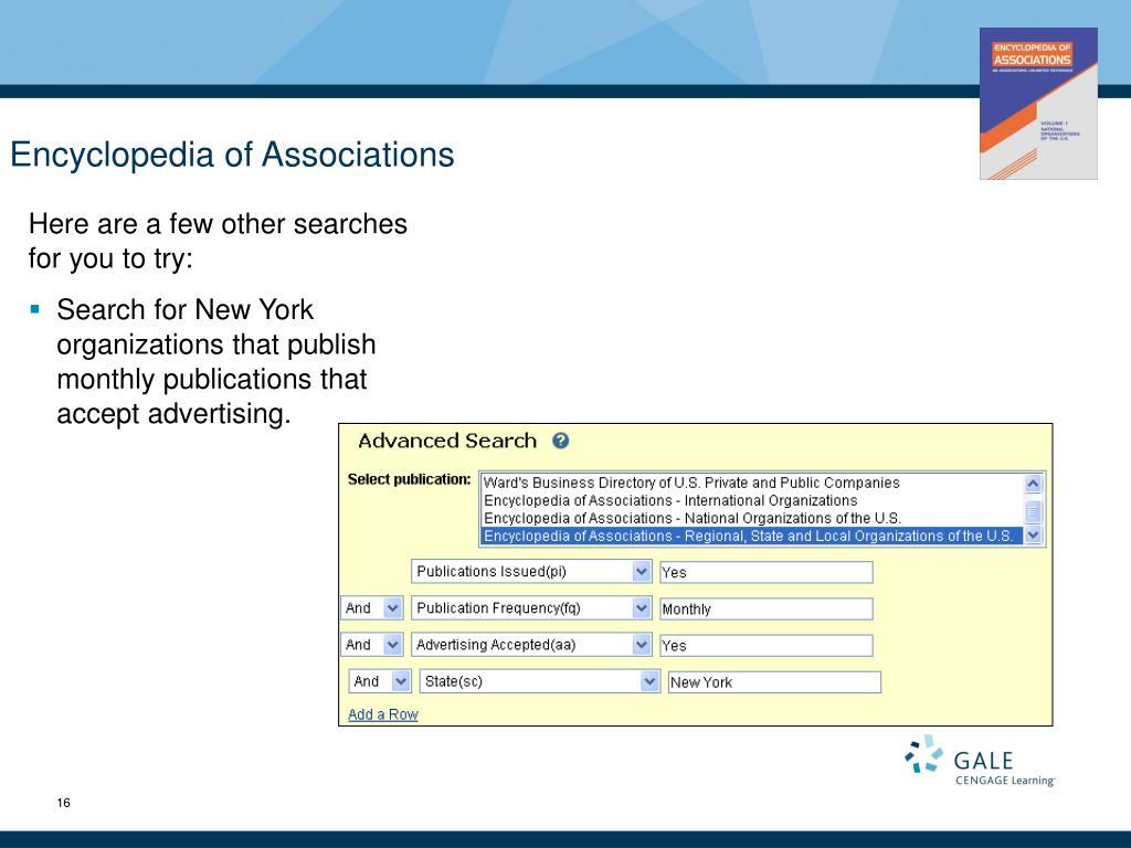 Encyclopedia of Associations