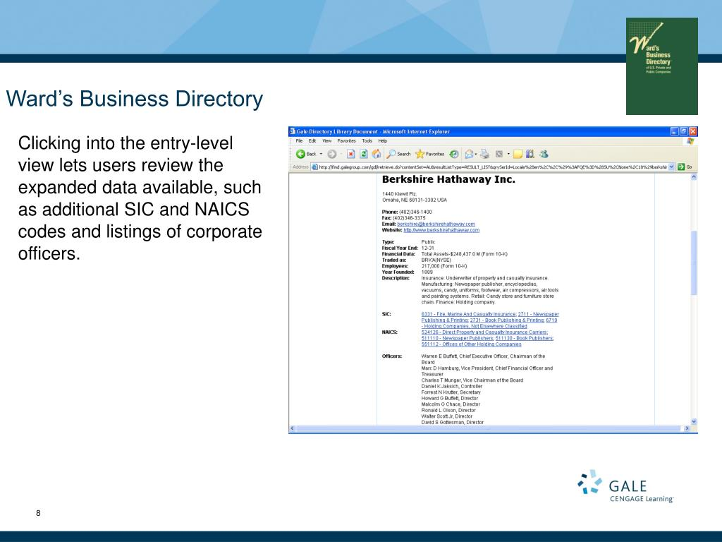 Ward's Business Directory