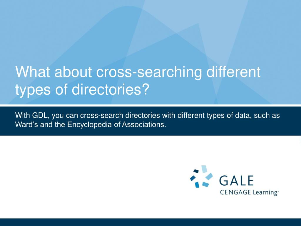 What about cross-searching different types of directories?
