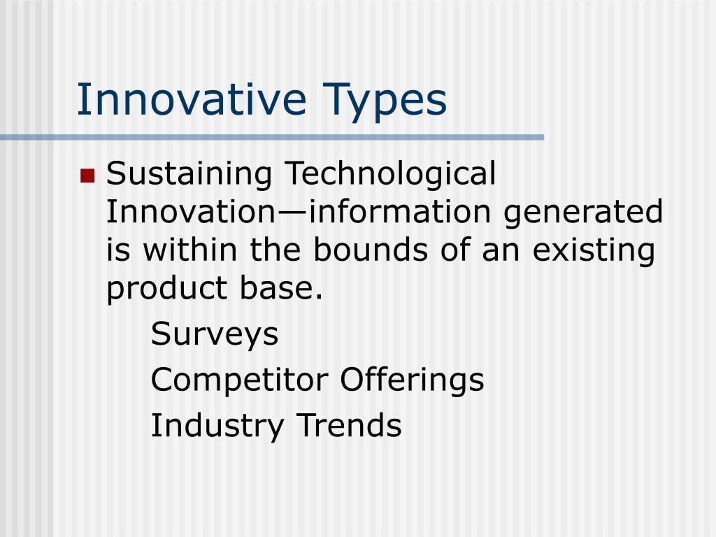 Innovative Types
