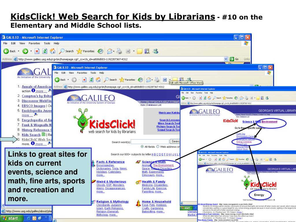 KidsClick! Web Search for Kids by Librarians