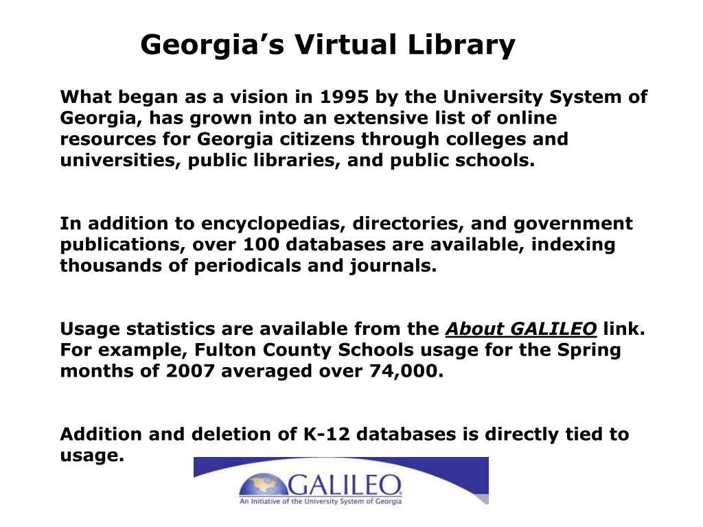Georgia's Virtual Library