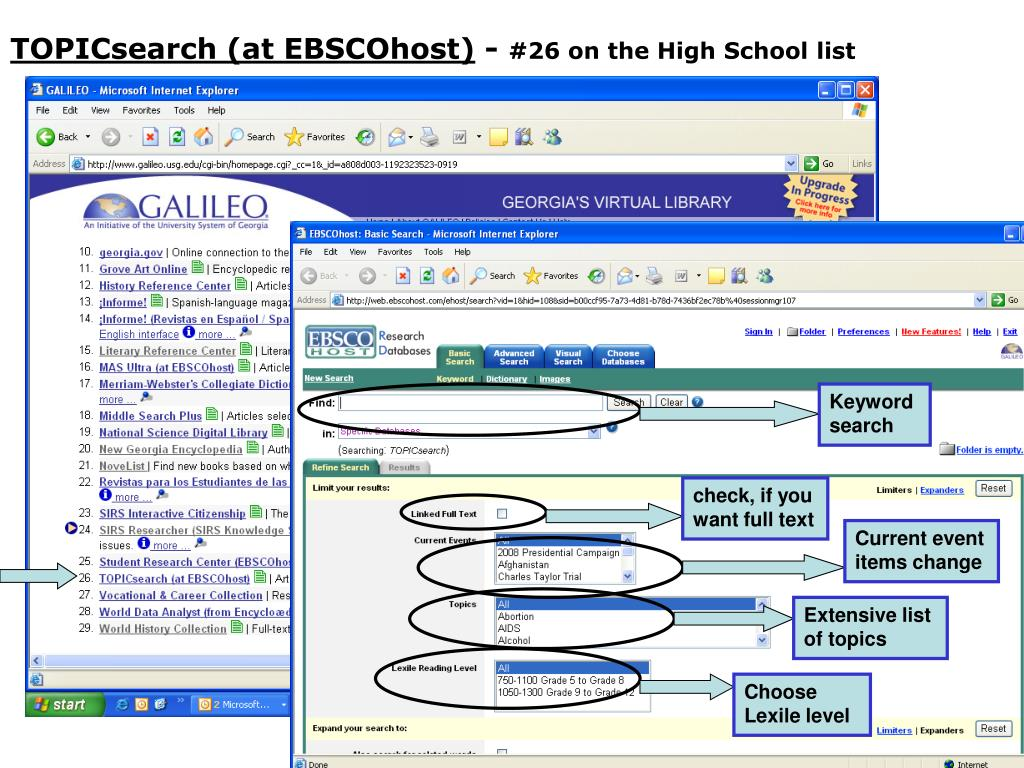 TOPICsearch (at EBSCOhost)