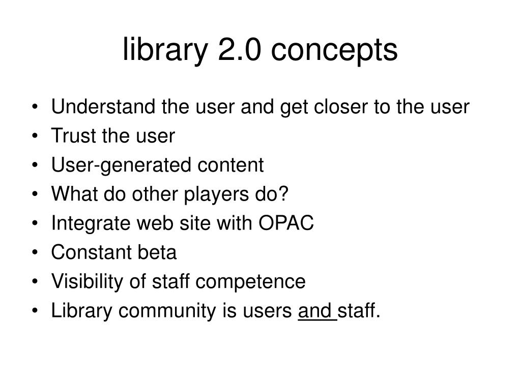 library 2.0 concepts