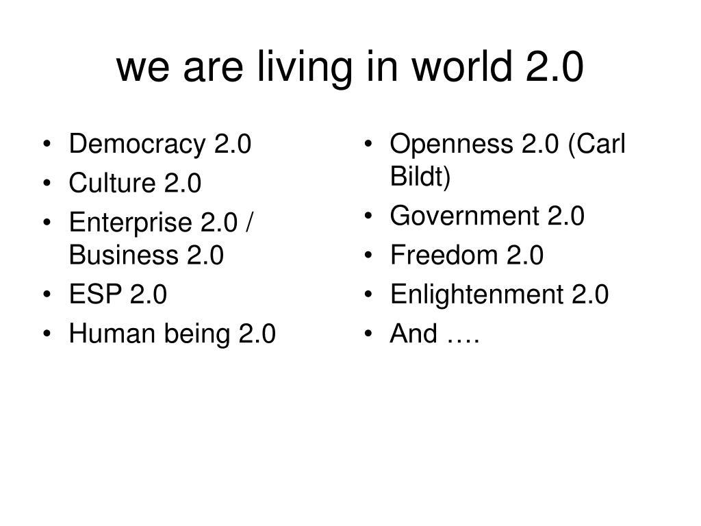 Democracy 2.0