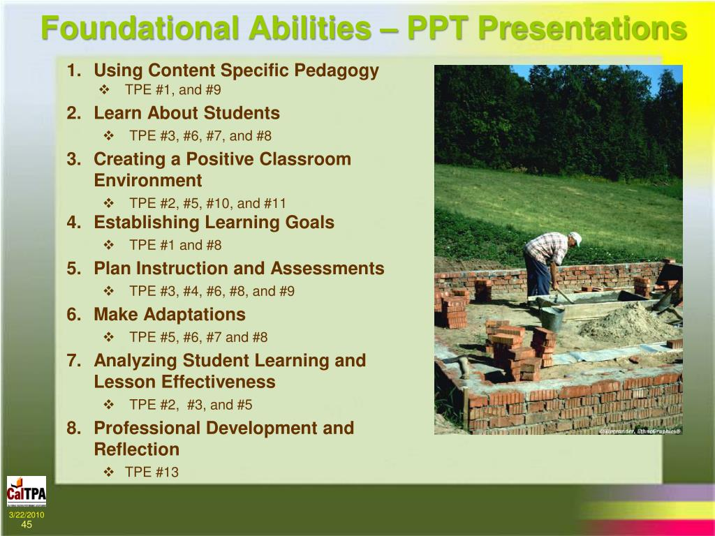 Foundational Abilities – PPT Presentations