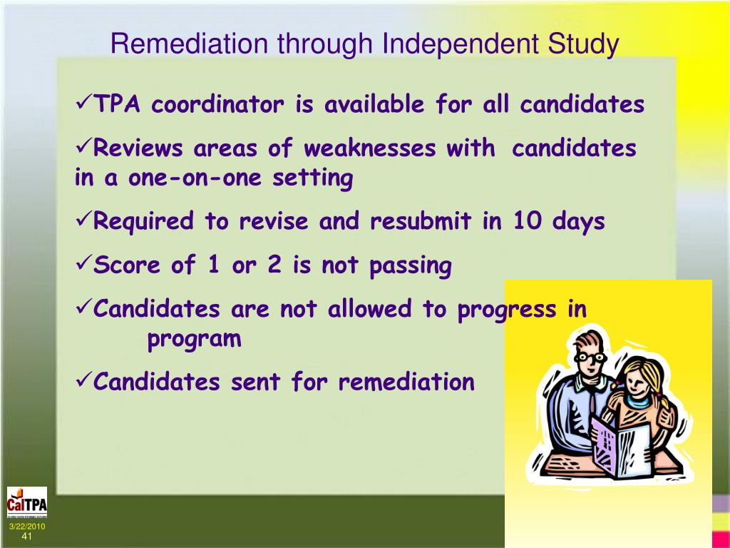 Remediation through Independent Study