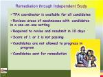 remediation through independent study41