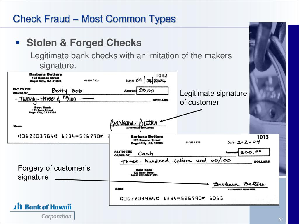 Check Fraud – Most Common Types