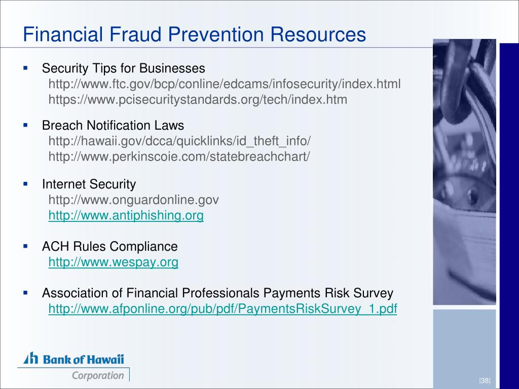 Financial Fraud Prevention Resources