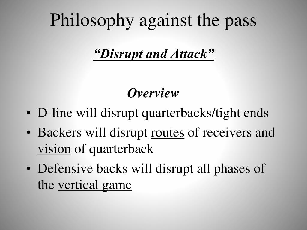 Philosophy against the pass