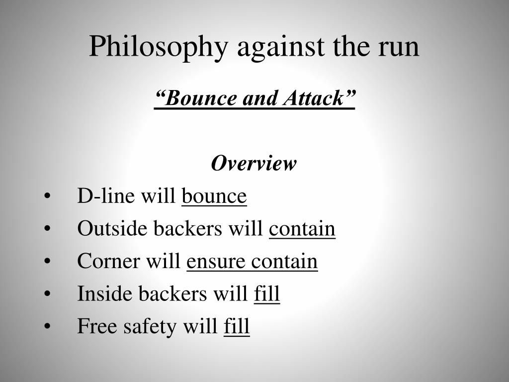 Philosophy against the run
