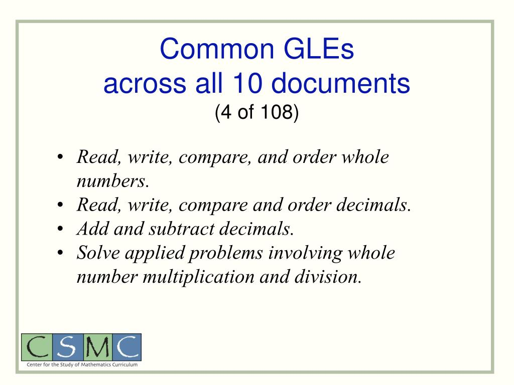 Common GLEs