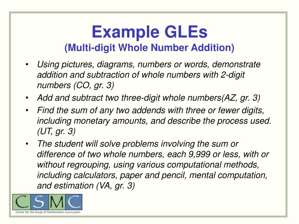 Example GLEs