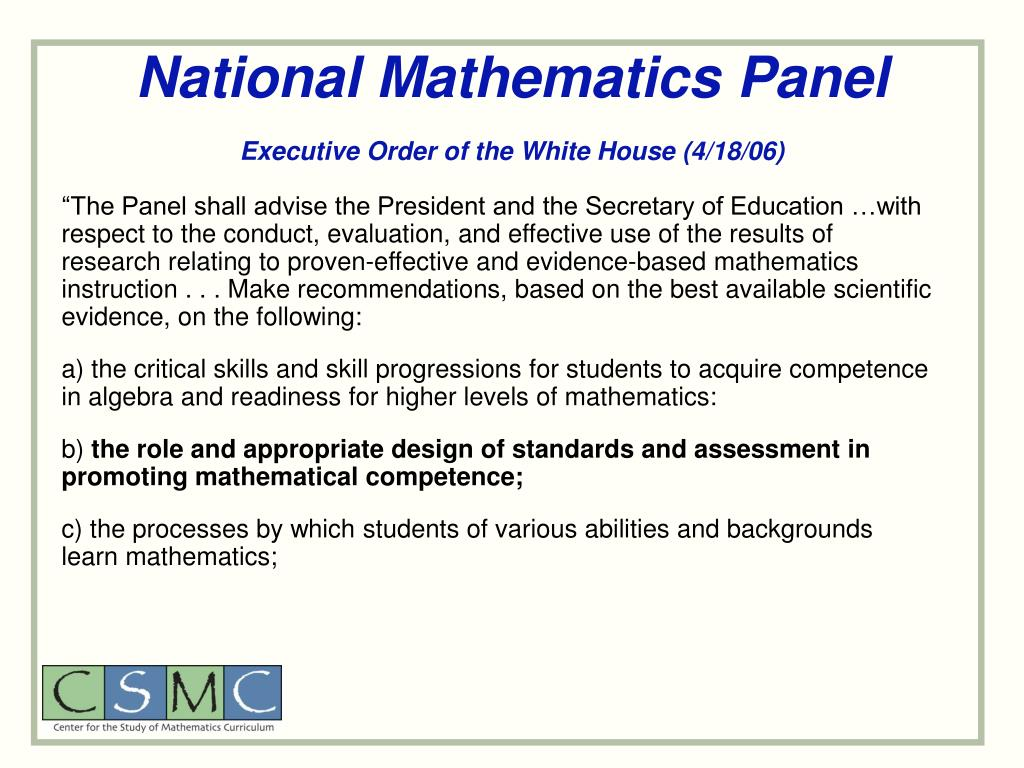 National Mathematics Panel