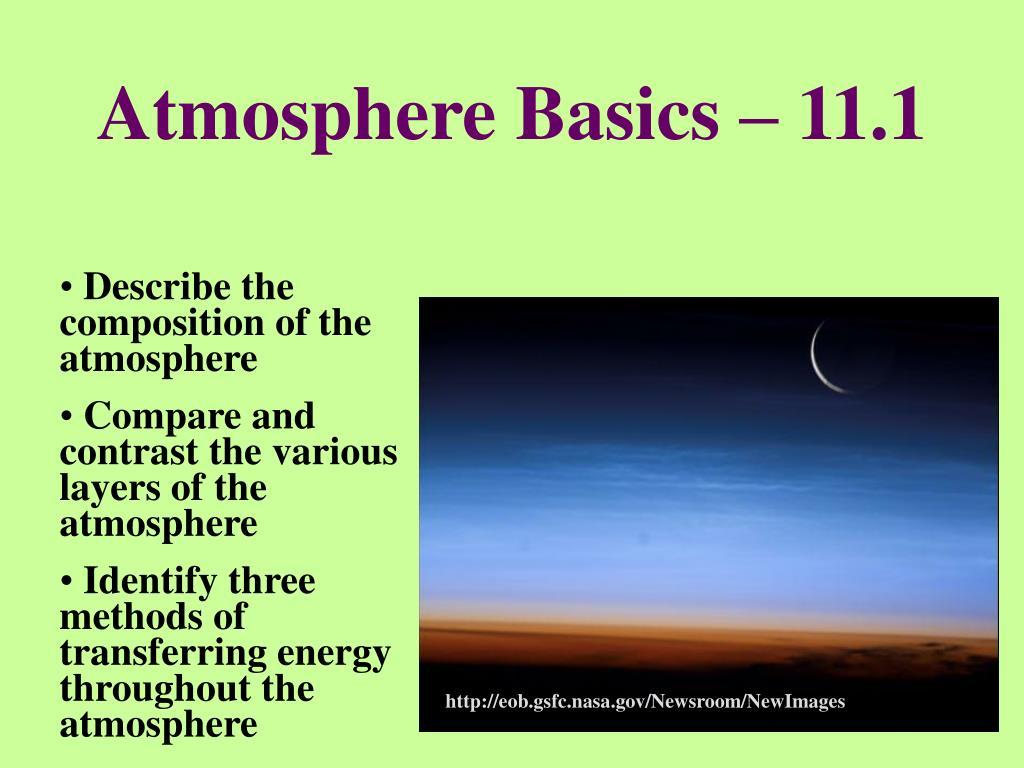 Atmosphere Basics – 11.1
