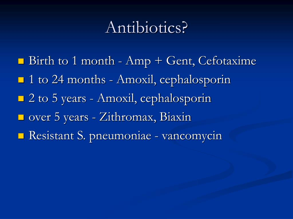 Antibiotics?