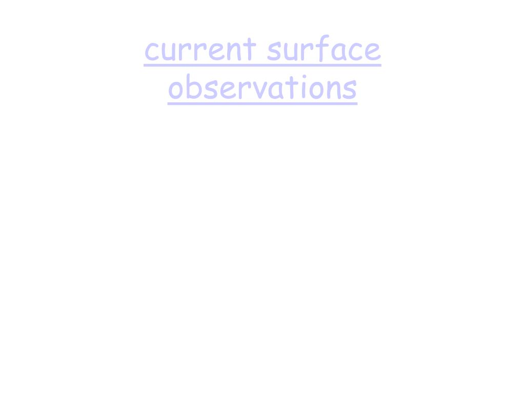 current surface observations