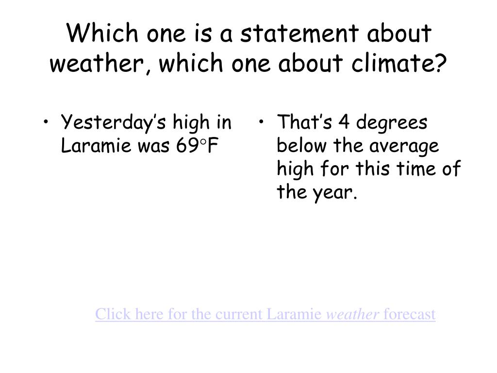Yesterday's high in Laramie was 69