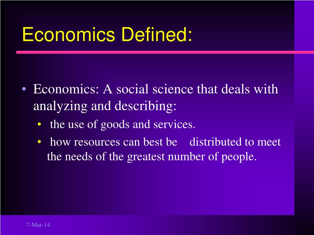 Economics Defined: