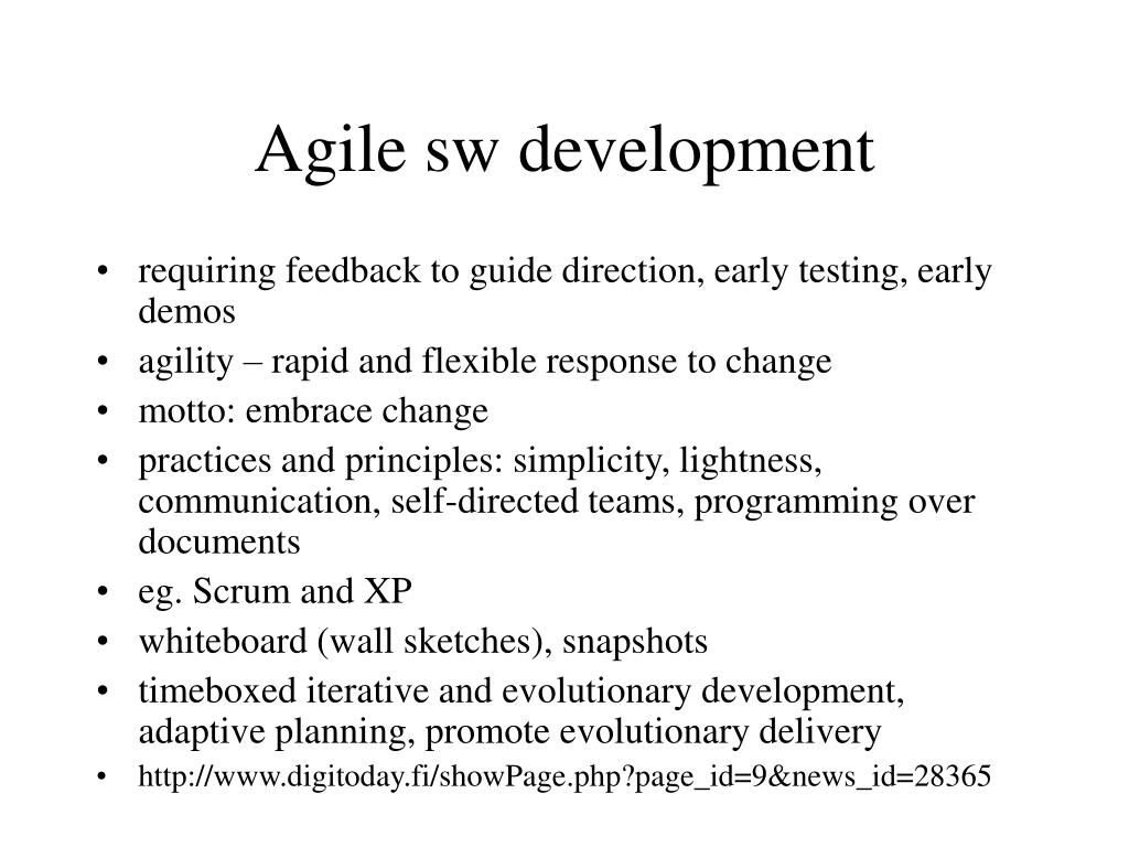 Agile sw development