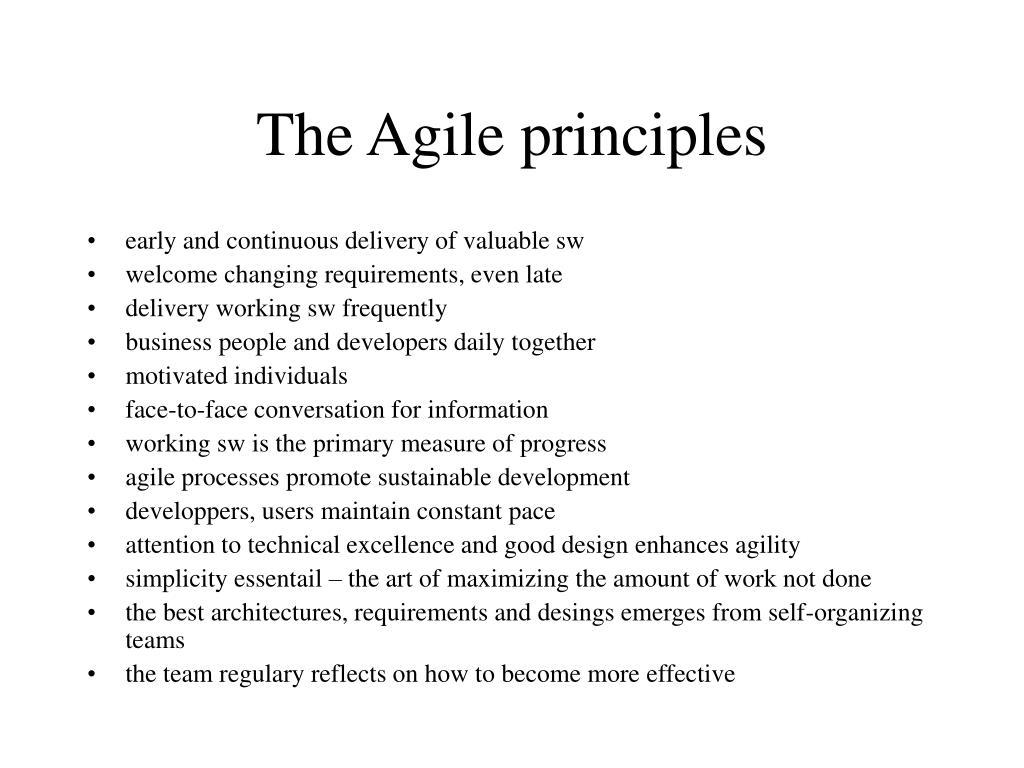 The Agile principles