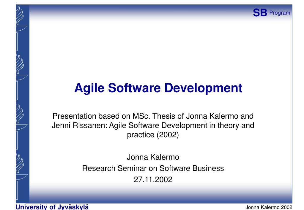agile software development master thesis