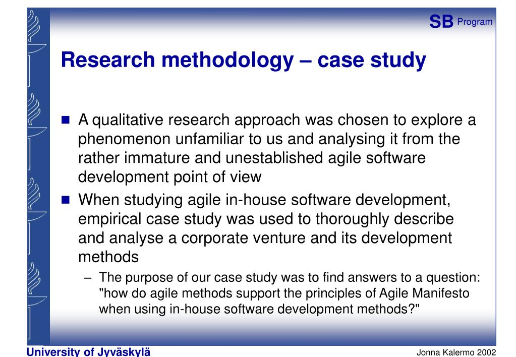 case study of agile methodology