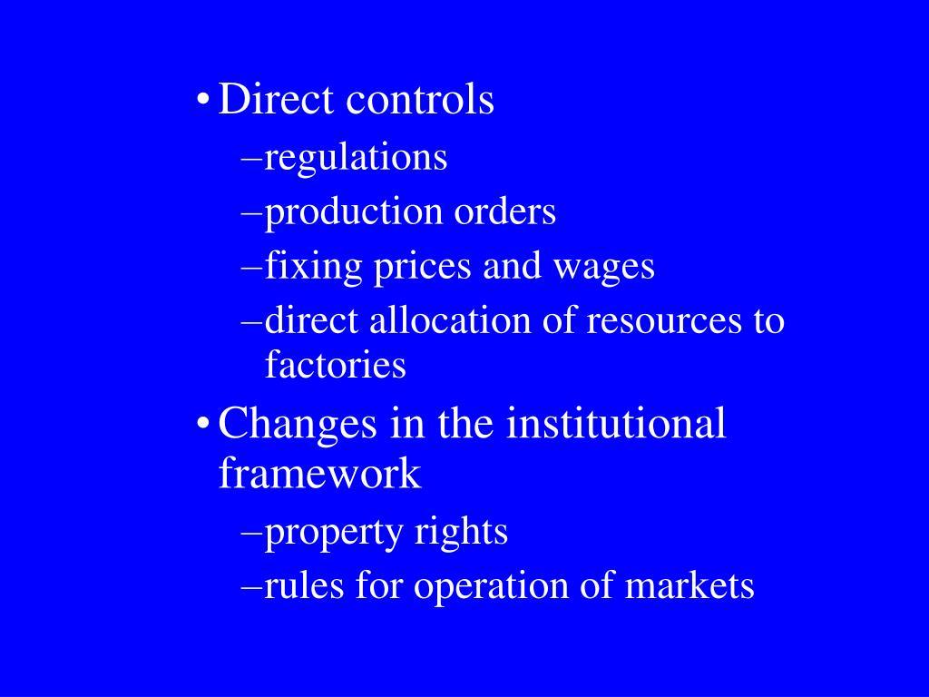 Direct controls