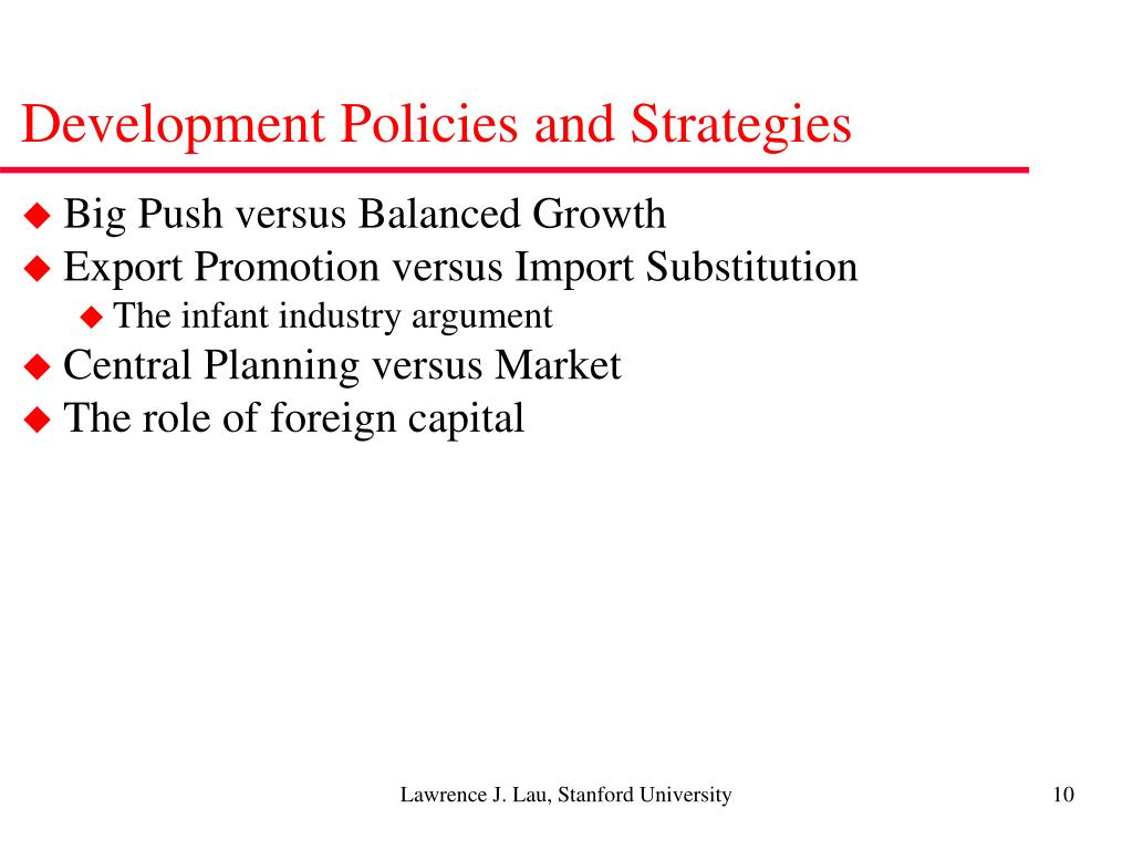 Development Policies and Strategies