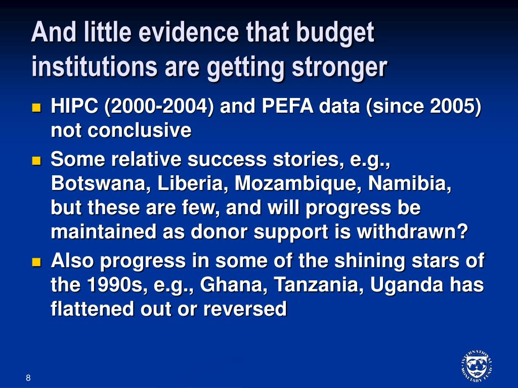And little evidence that budget institutions are getting stronger
