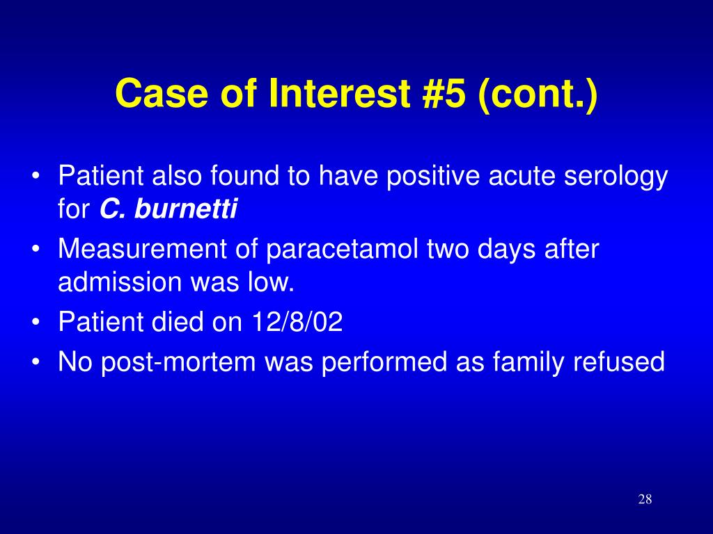 Case of Interest #5 (cont.)