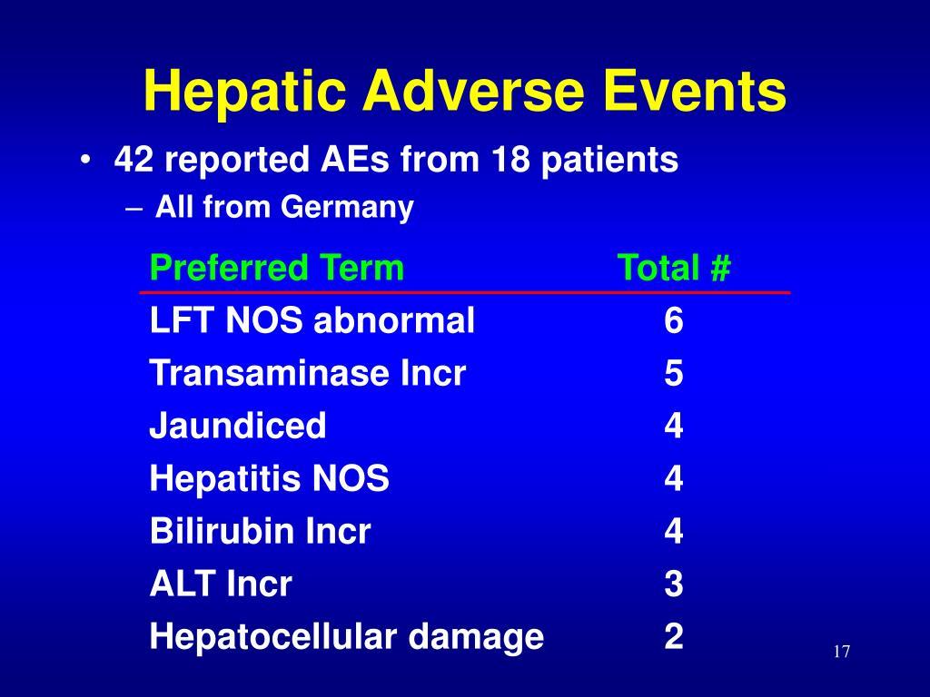 Hepatic Adverse Events
